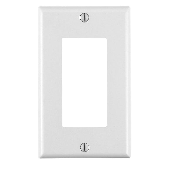 Leviton 80401 - 1-Gang Decora/GFCI Device Decora Wallplate/Faceplate, Standard Size, Thermoset, Device Mount - Ready Wholesale Electric Supply and Lighting