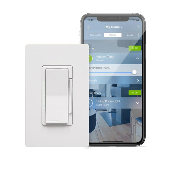 Leviton DH6HD-1BZ - Decora Smart with HomeKit Technology 600 Watt Dimmer - Ready Wholesale Electric Supply and Lighting