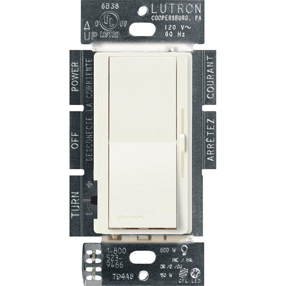 Lutron DVSCF-103P Diva (satin) 120V 8A, Single Pole/3-way, 3-wire Fluorescent Dimmer - Ready Wholesale Electric Supply and Lighting