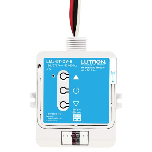 Lutron LMJ-5T-DV-B RF Dimming Module with 0-10V - Ready Wholesale Electric Supply and Lighting