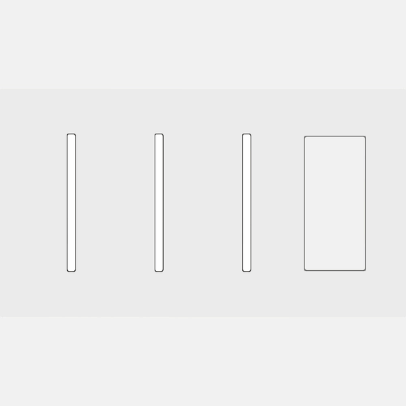 Lutron LWT-GGGT New Architectural / Grafik T Wallplate (4 Gang) - Ready Wholesale Electric Supply and Lighting