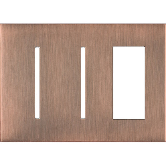 Lutron LWT-GGT New Architectural / Grafik T Wallplate (3 Gang) - Ready Wholesale Electric Supply and Lighting