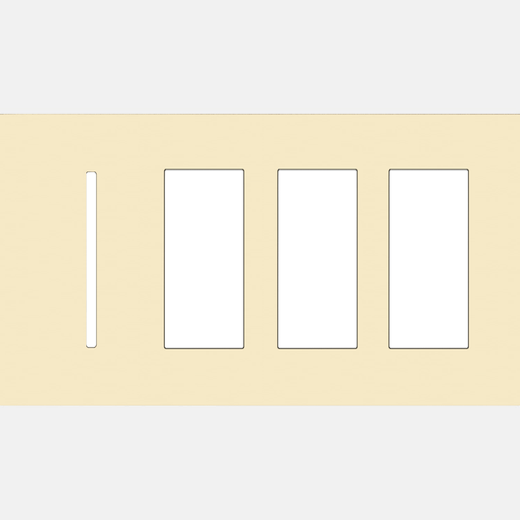 Lutron LWT-GTTT New Architectural / Grafik T Wallplate (4 Gang) - Ready Wholesale Electric Supply and Lighting
