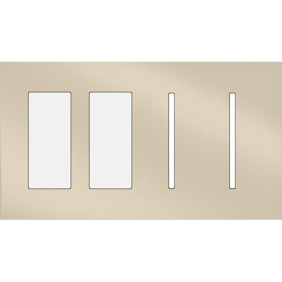 Lutron LWT-TTGG New Architectural / Grafik T Wallplate (4 Gang) - Ready Wholesale Electric Supply and Lighting