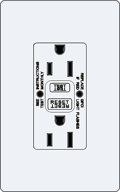 Lutron NTR-15-GFST Architectural Style 15A Self-Testing, GFCI, Tamper Resistant Receptacle - Ready Wholesale Electric Supply and Lighting