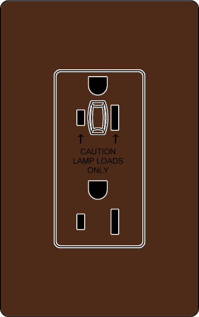 Lutron NTR-20-HDTR Architectural Style 20A Half-Dimming Tamper Resistant Receptacle - Ready Wholesale Electric Supply and Lighting