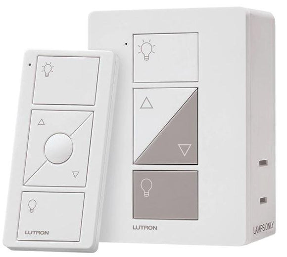 Lutron P-PKG1P-WH Expansion Kit with Plug-in Lamp Dimmer, Pico Remote - Ready Wholesale Electric Supply and Lighting