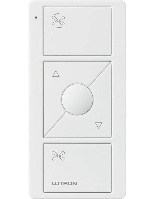 Lutron PJ2-3BRL-WH-F01R - Pico Remote for Caseta Wireless Smart Fan Speed Control - White - Ready Wholesale Electric Supply and Lighting