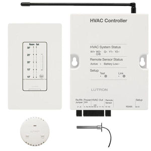 Lutron RadioRA 2 LR-HVAC-PKG-C-WH Temperature Controls - Ready Wholesale Electric Supply and Lighting