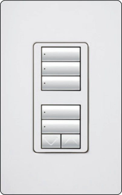 Lutron RadioRA 2 RRD-W1RLD Wall-Mounted Keypads - Ready Wholesale Electric Supply and Lighting