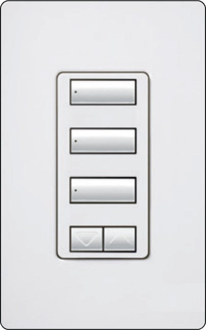Lutron RadioRA 2 RRD-W3BSRL Wall-Mounted Keypads - Ready Wholesale Electric Supply and Lighting