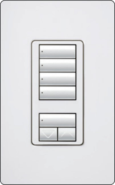 Lutron RadioRA 2 RRD-W4S Wall-Mounted Keypad - Ready Wholesale Electric Supply and Lighting