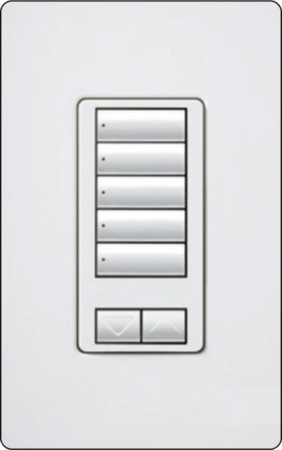 Lutron RadioRA 2 RRD-W5BRL Wall-Mounted Keypads - Ready Wholesale Electric Supply and Lighting