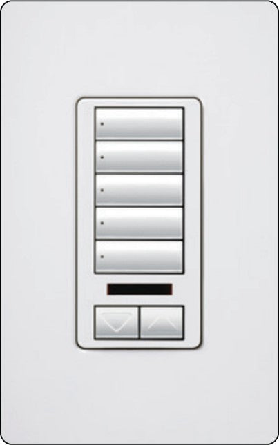 Lutron RadioRA 2 RRD-W5BRLIR Wall-Mounted Keypads - Ready Wholesale Electric Supply and Lighting