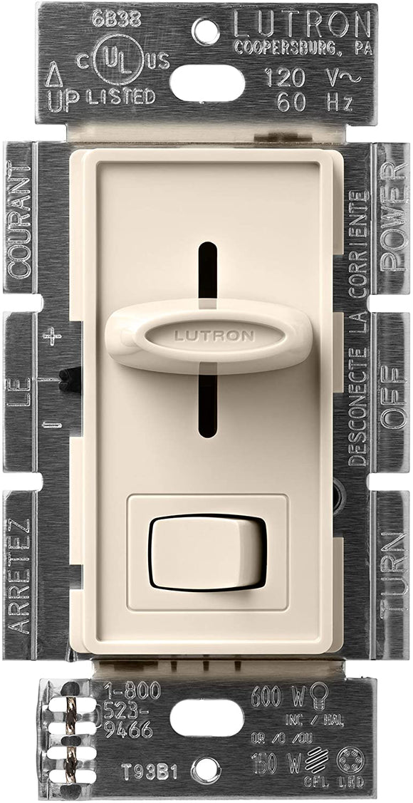 Lutron S-603P Skylark 600W, Single Pole / 3-way, Incandescent / Halogen, Preset Dimmer - Ready Wholesale Electric Supply and Lighting