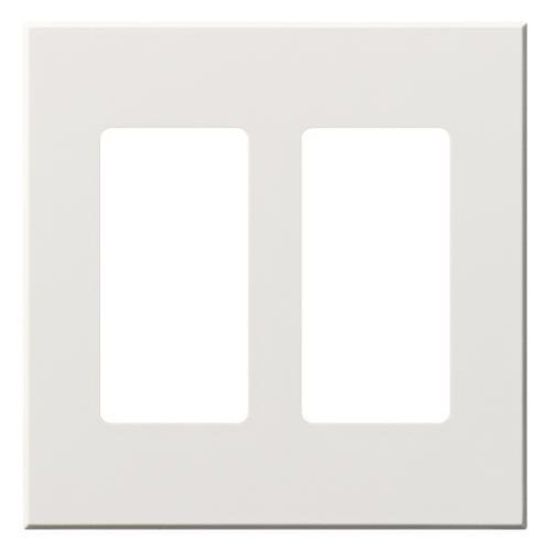 Lutron VWP-2R Vareo 2-Gang Wallplate For Two Receptacles / Jacks - Ready Wholesale Electric Supply and Lighting