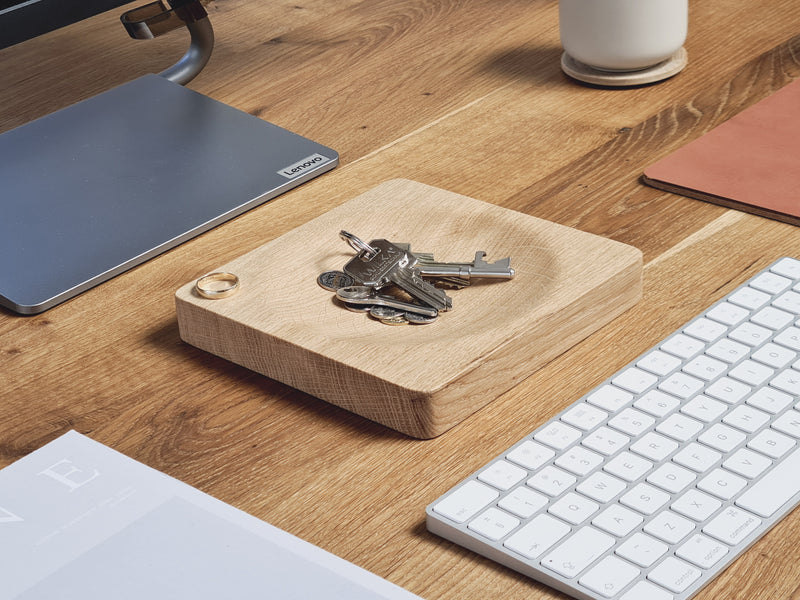 Oak Wood Desk Valet Tray