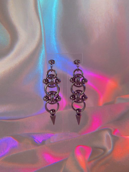 ✤ LANCE EARRING PAIR ✤ - Sacred Steel Armour