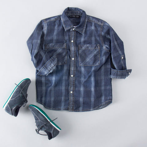 Checks Denim Shirt