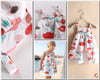 Flowers, Blue and Red girls dress kids dress dresses