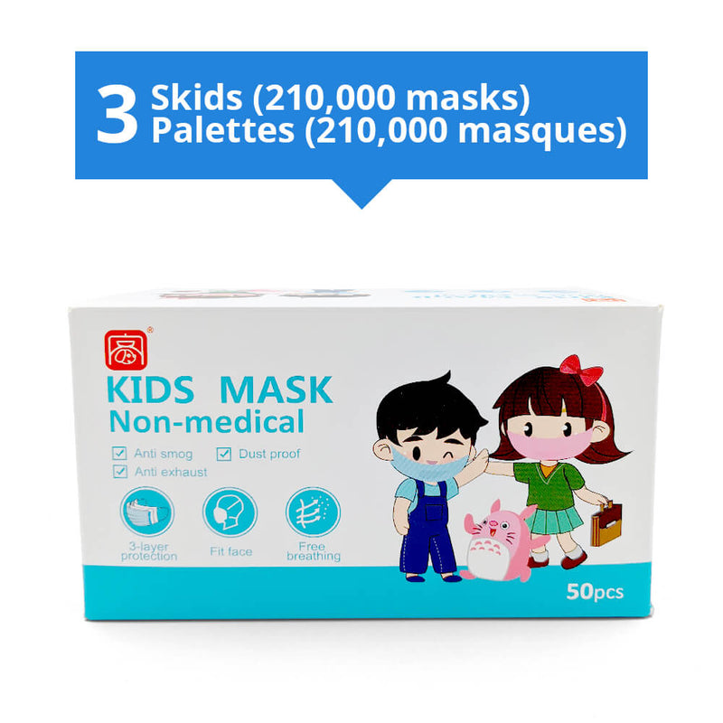 Kids Disposable 3 Ply Facemask