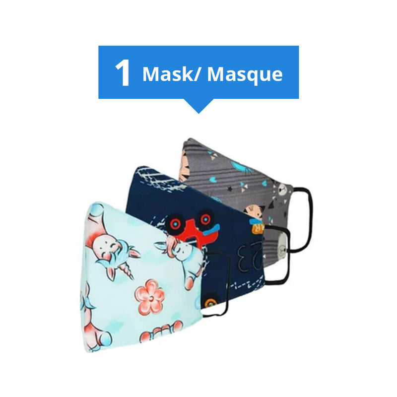 Kids Reusable Face Mask Assorted Patterns
