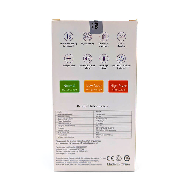 Aiqura Infared Forehead Thermometer No touch