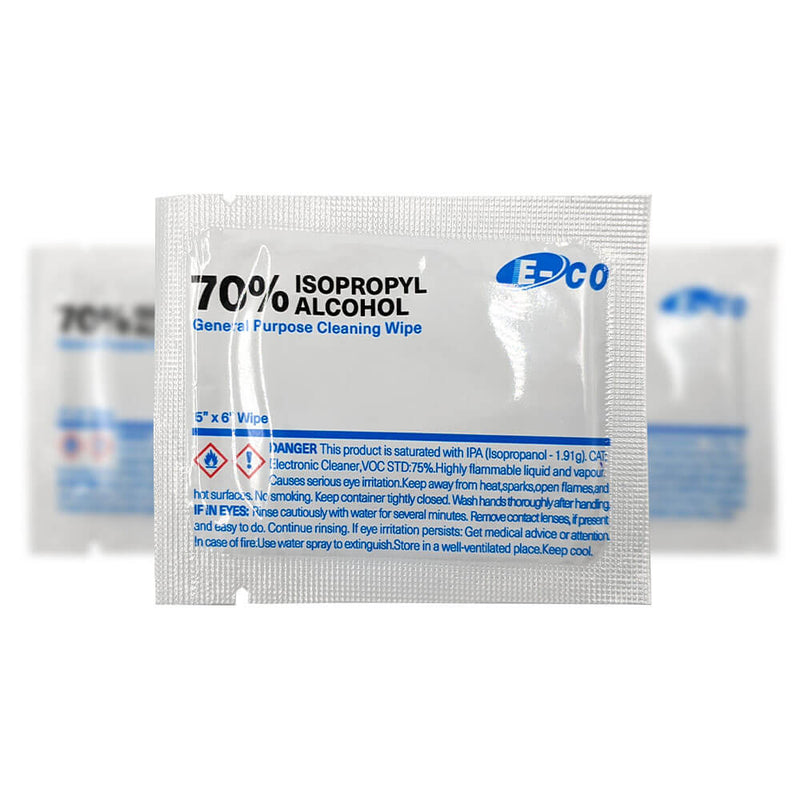 E-Co 70% Isopropyl Alcohol Cleaning Wipes 50/Box