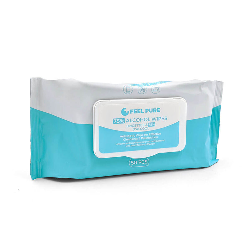 Feel Pure 75% Alcohol Wipes (Bilingual Packaging with NPN)