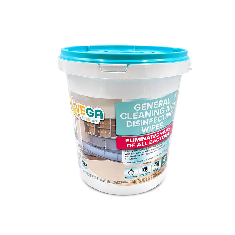 Vega General Cleaning Disinfecting wipes Kills 99% of Germs