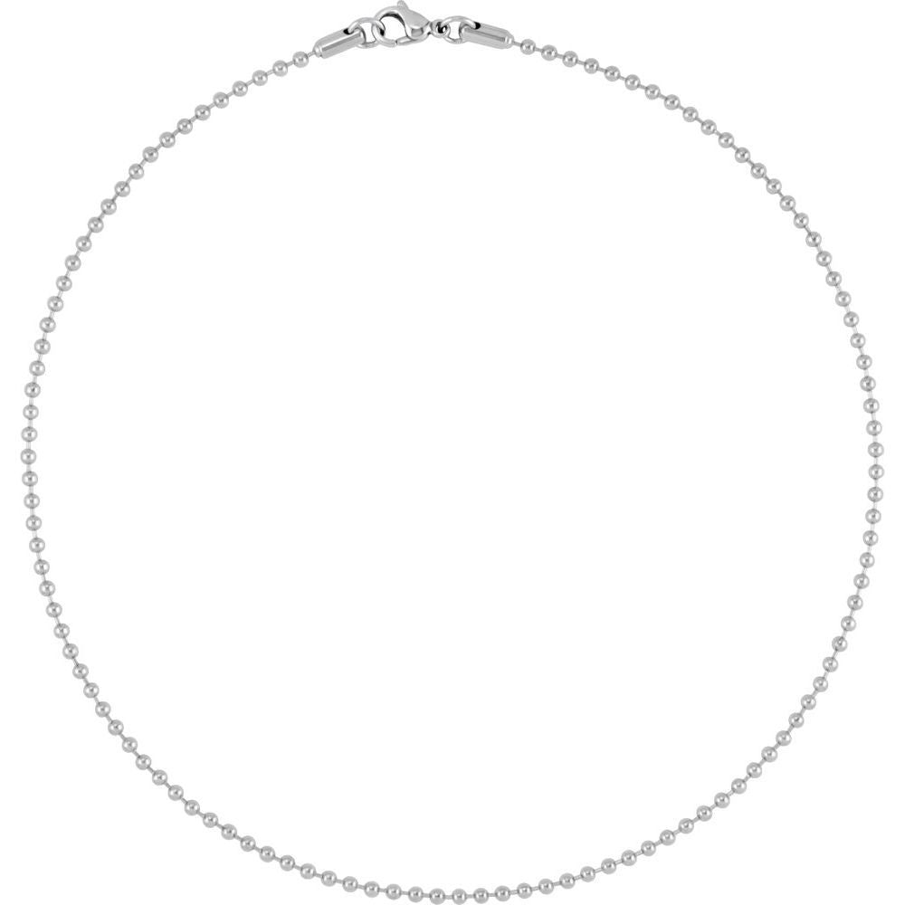 Hollow Bead Chain With Lobster Clasp (2923961)