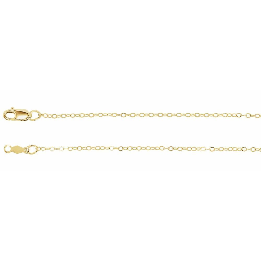 Flat Cable Chain With Lobster Clasp (103100)