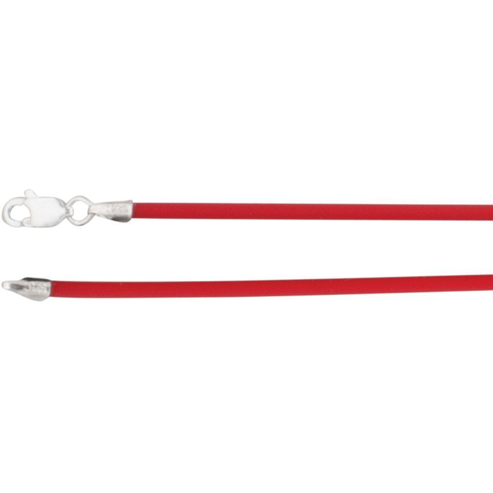 Cherry Rubber Necklace With Lobster Clasp (150761)