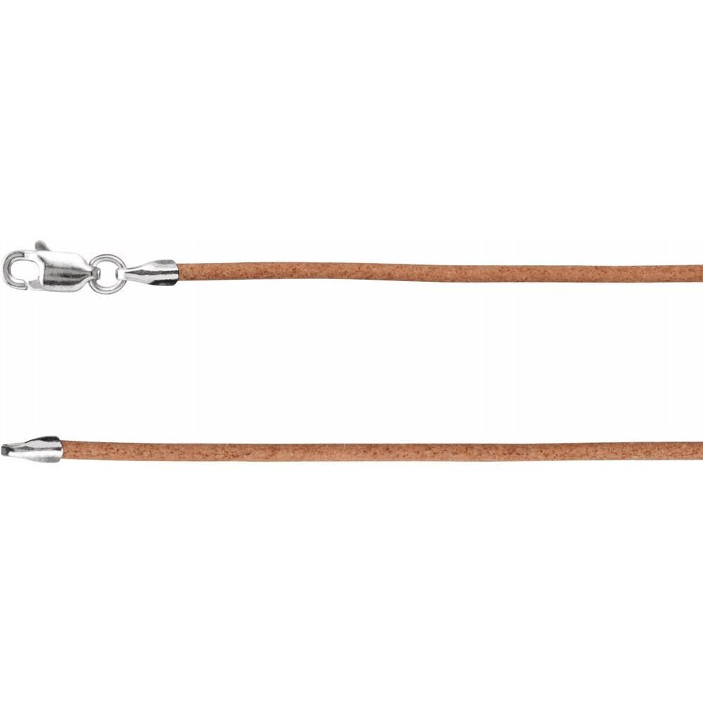 Natural Leather Cord With Lobster Clasp (150847)