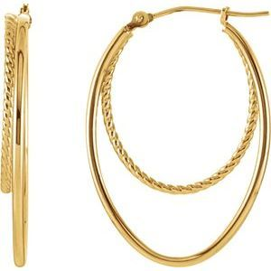 Women's Metal Hoop Earrings