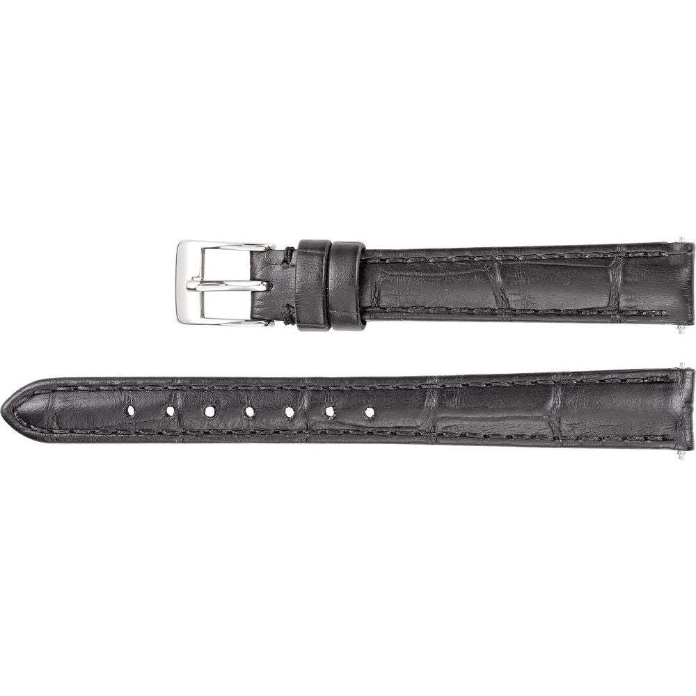 Leather Matte Alligator Grain Padded Watch Band (2948493)