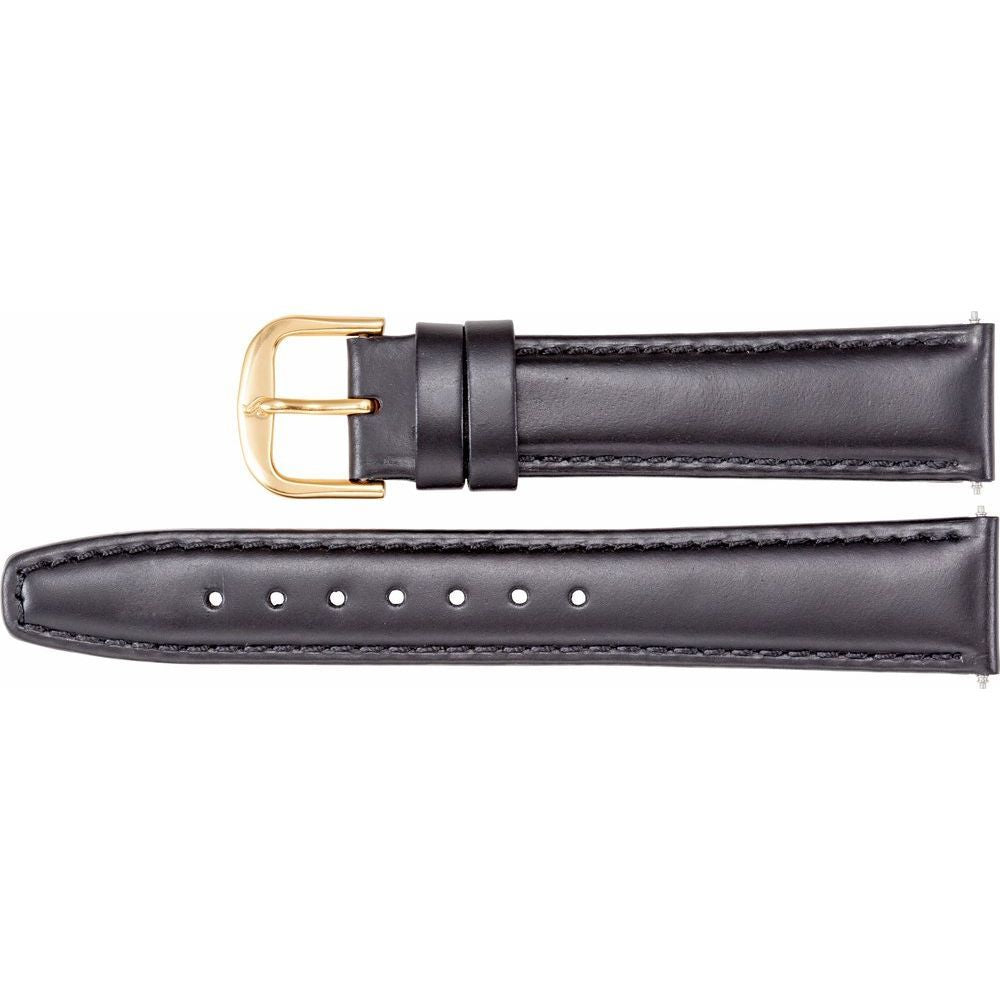 Leather Saddle Padded Watch Band (130588)