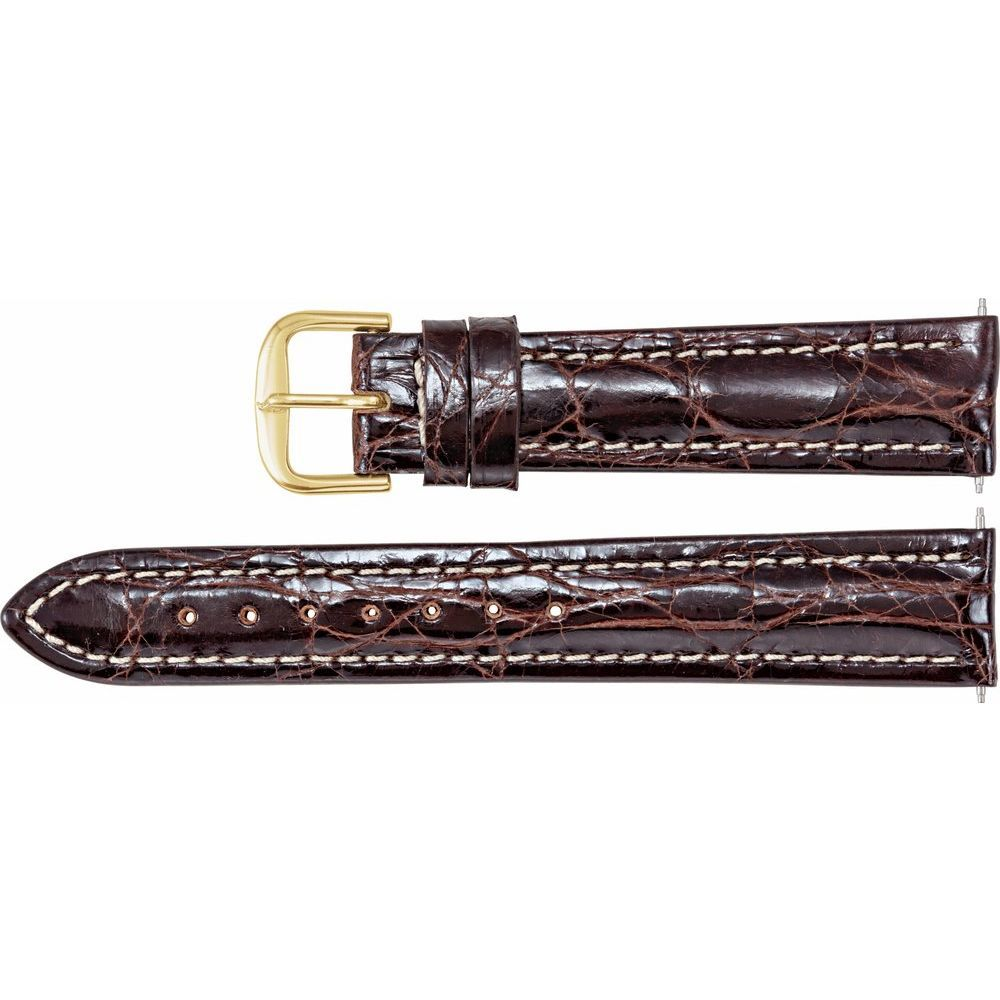 Polished Sport Genuine Crocodile Heavy Padded Watch Band (2245969)