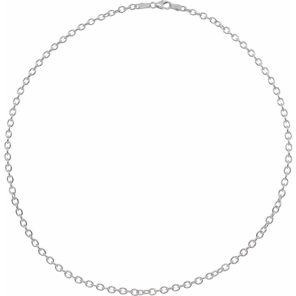 Oval Cable Bracelet With Lobster Clasp (15770523)