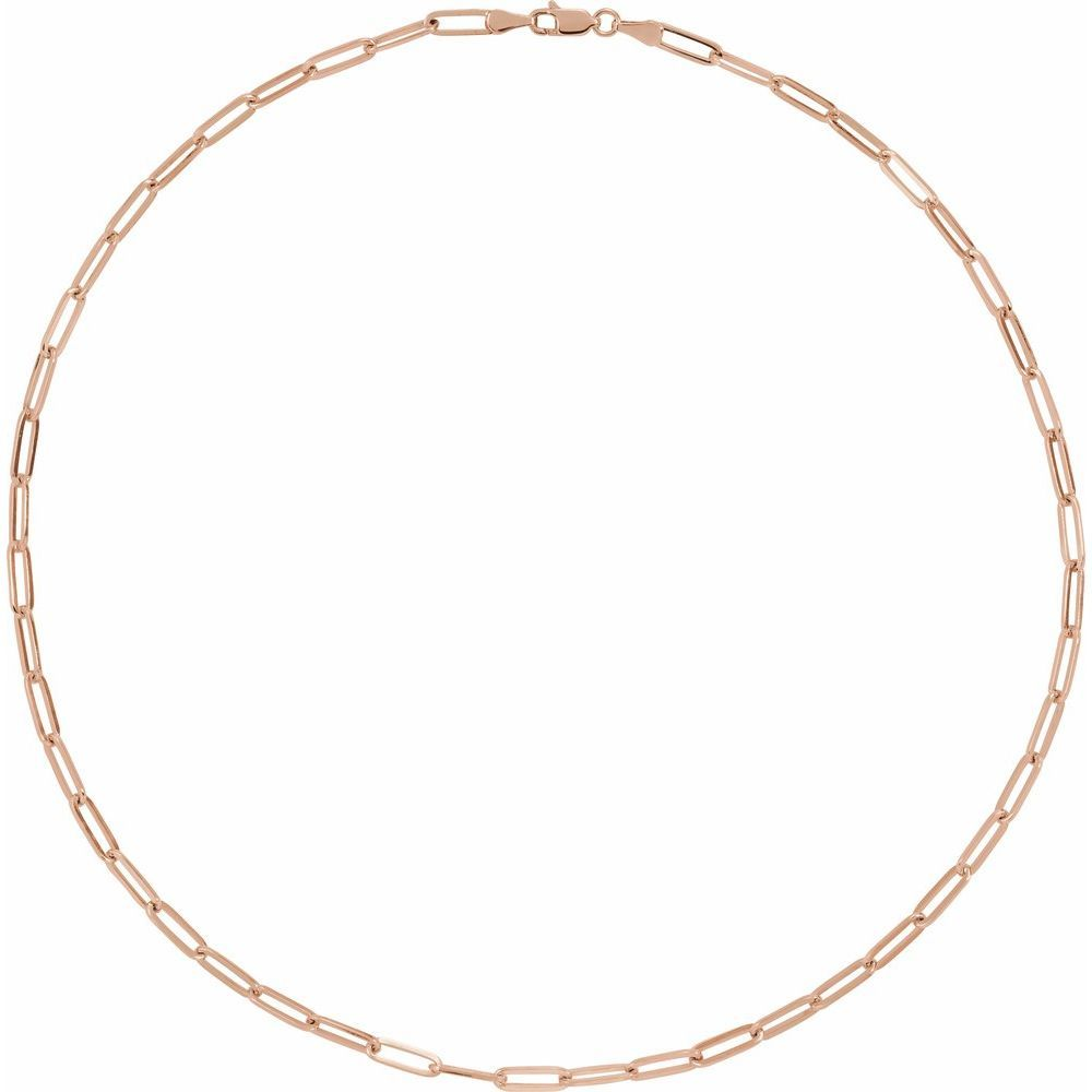 Flat Wire Long Link Bracelet With Lobster Clasp (16866637)