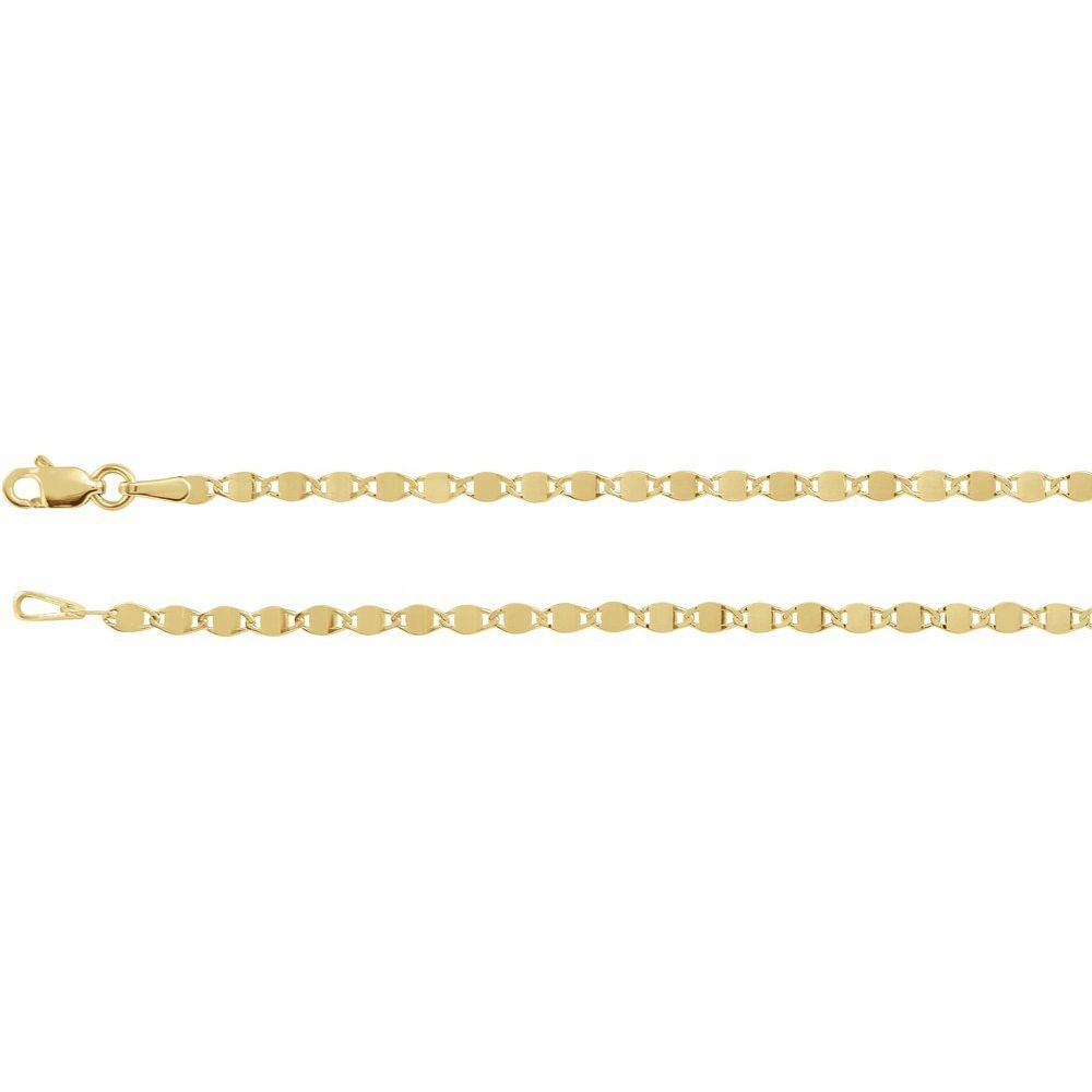 2.7Mm Mirror Chain Bracelet With Lobster Clasp (17719280)