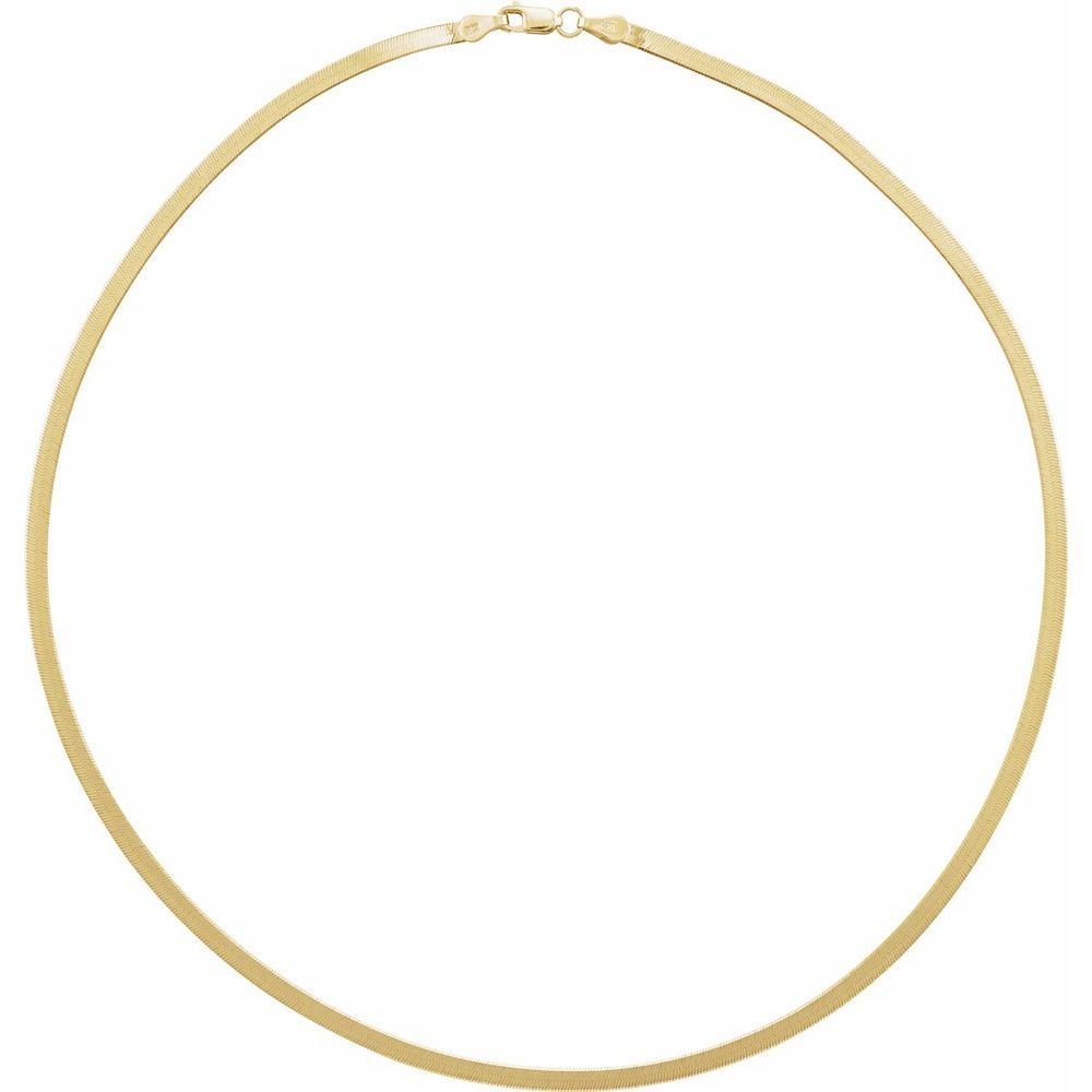 2.8 Mm Flexible Herringbone Necklace With Lobster Clasp (17927035)