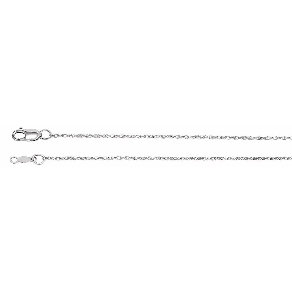 1Mm Rope Chain With Lobster Clasp (1299477)