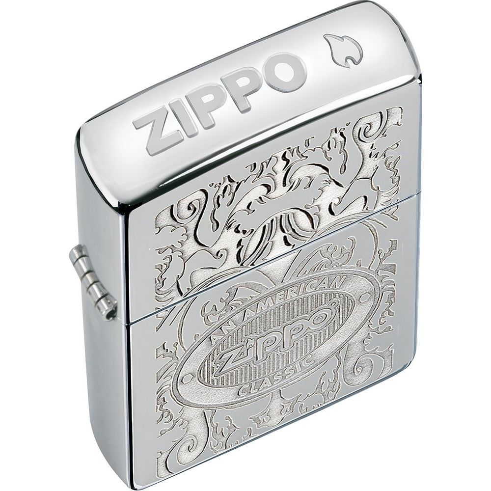 Zippo® American Classic Crown Stamp™ High Polish Chrome Lighter (5619107)