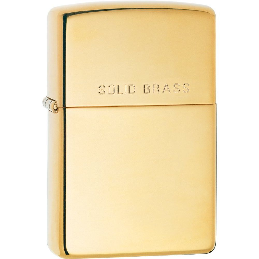 "Zippo® ""Solid Brass"" High Polish Brass Lighter  (5619135)"