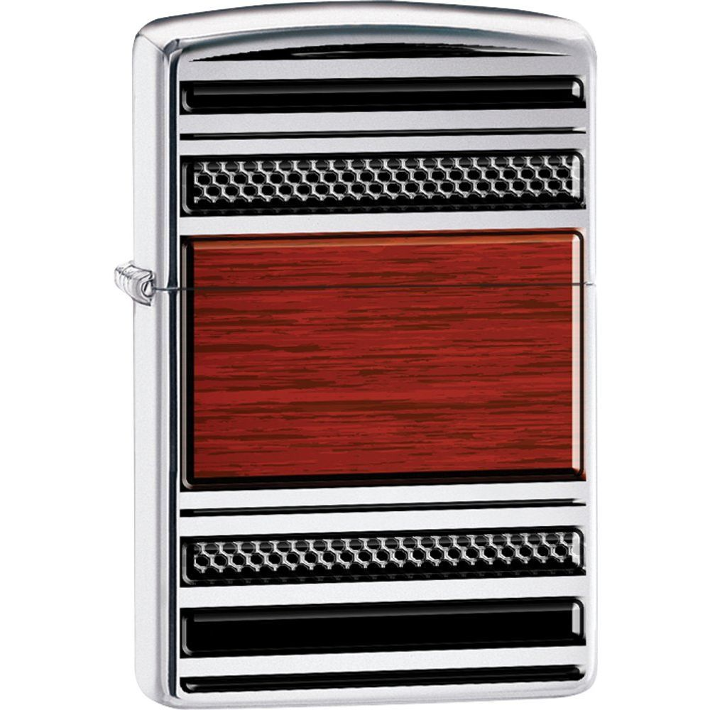 Zippo® Steel & Wood Pipe High Polish Chrome Lighter (9852294)