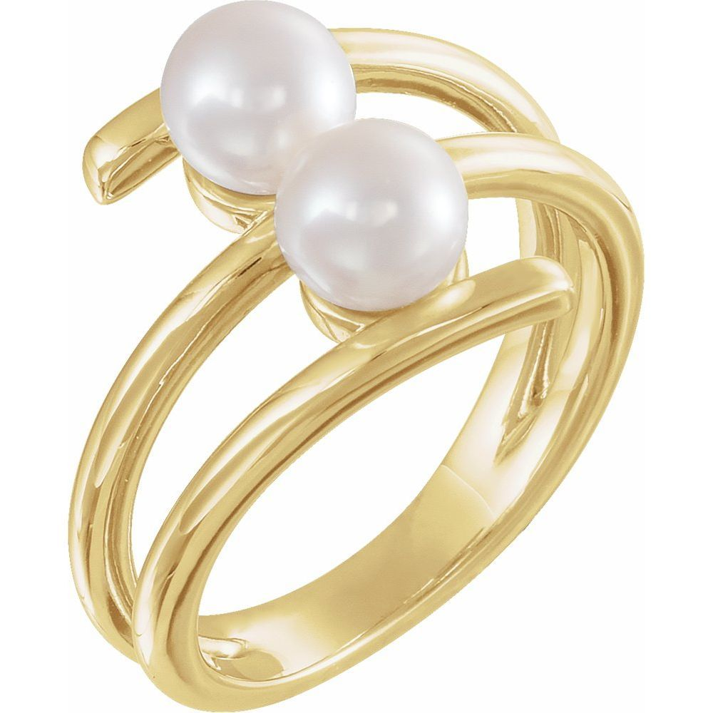 White Freshwater Cultured Pearl Ring (13570667)