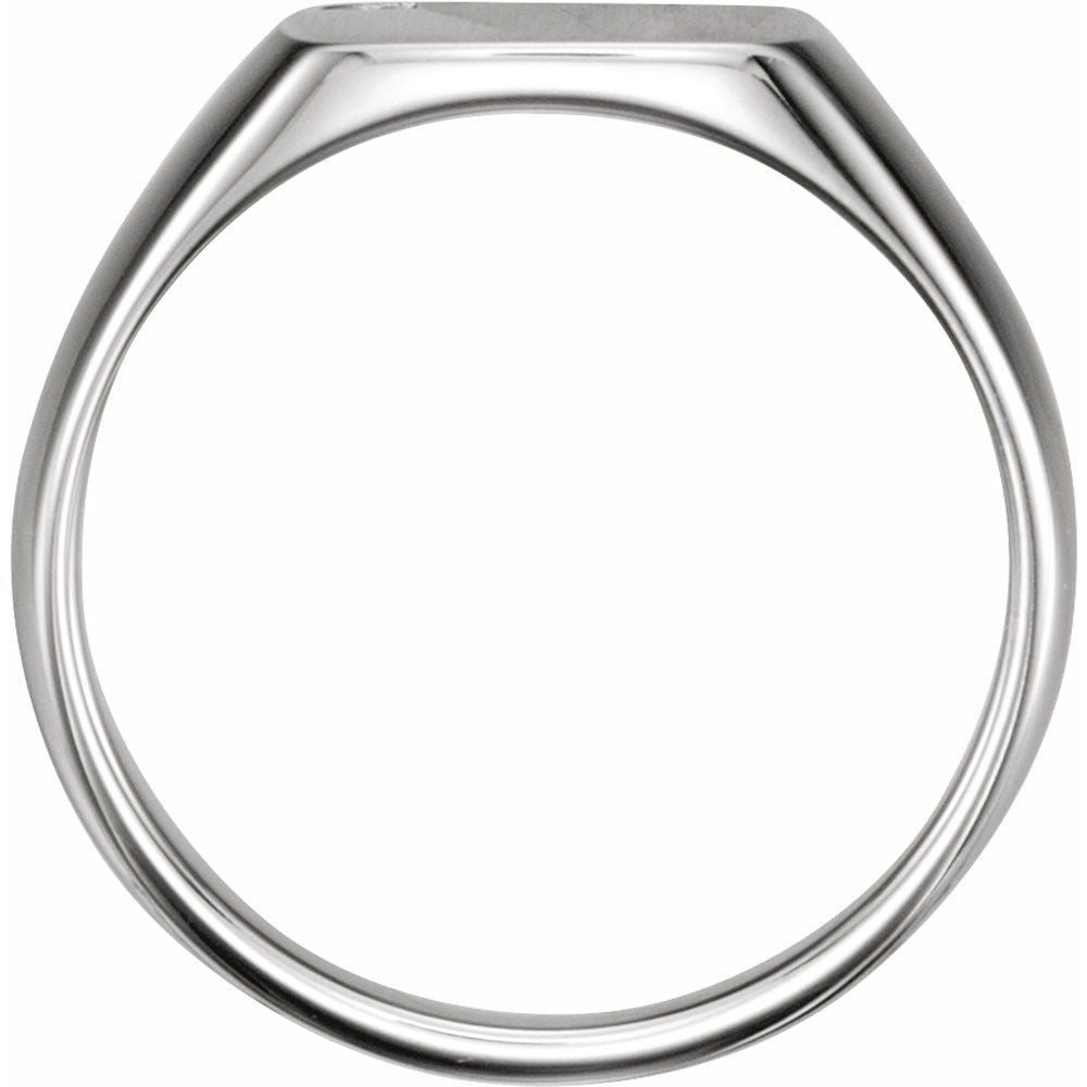 .0075 Ctw Diamond Mens Signet Ring (12094166)