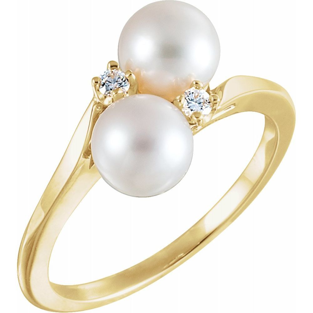 Cultured Pearl And Diamond Rin (138262)
