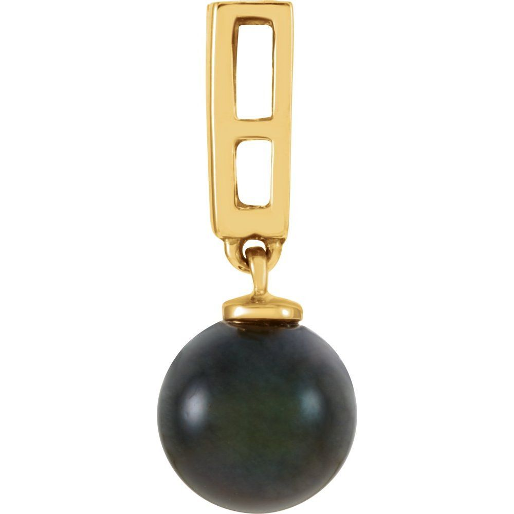 Black Cultured Pearl And Diamo (175443)